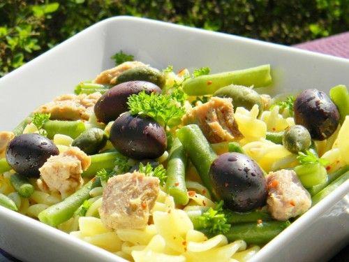 Csípős zöldbabos-tonhalas tészta
