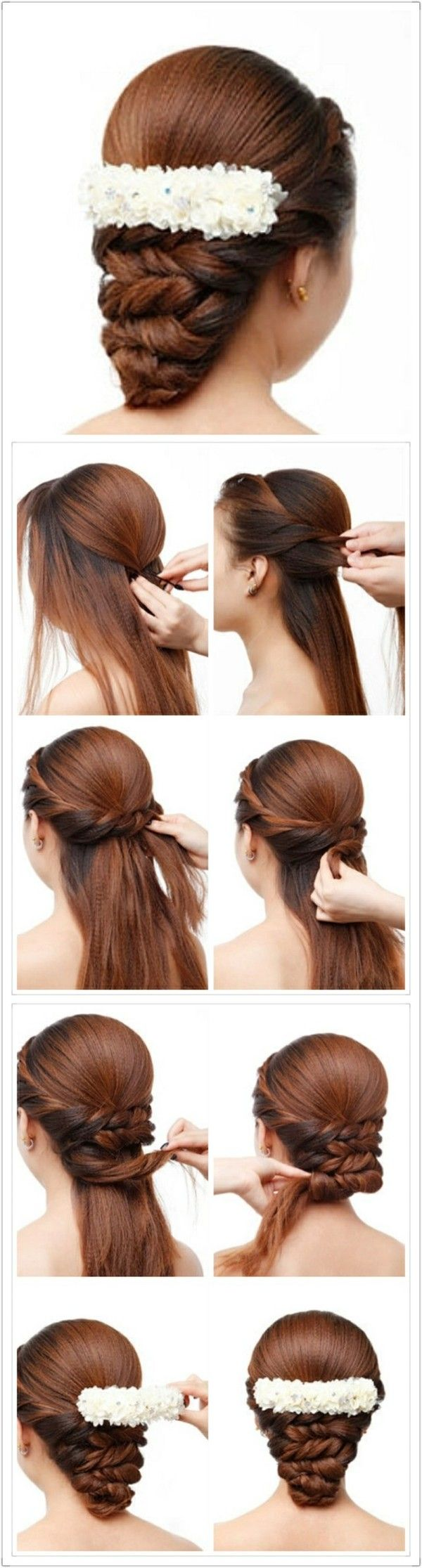 Pin By Elena Mar 237 A Camacho On Peinados Pinterest Hair Style Easy Hair And Bridal Hairstyle