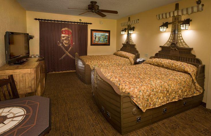Pirate Rooms At Caribbean Beach Resort Disney World