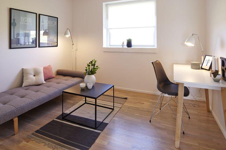 Lækkert teenageværelse med smart interiør. eurodan-hus i Ikast.