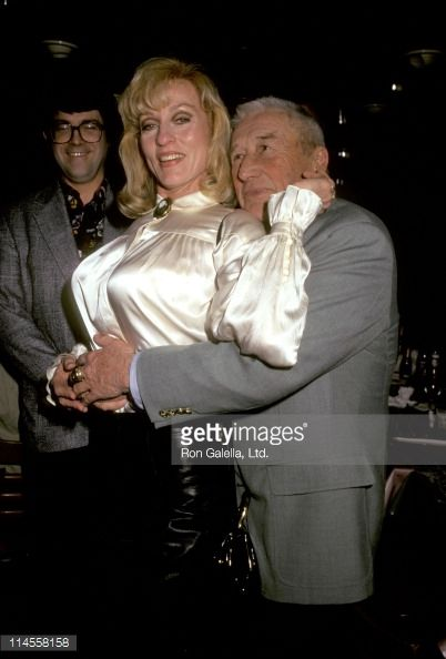 Mickey Spillane  | Lee Meredith and Mickey Spillane during Tekno Comix SciFi Stars Party ...
