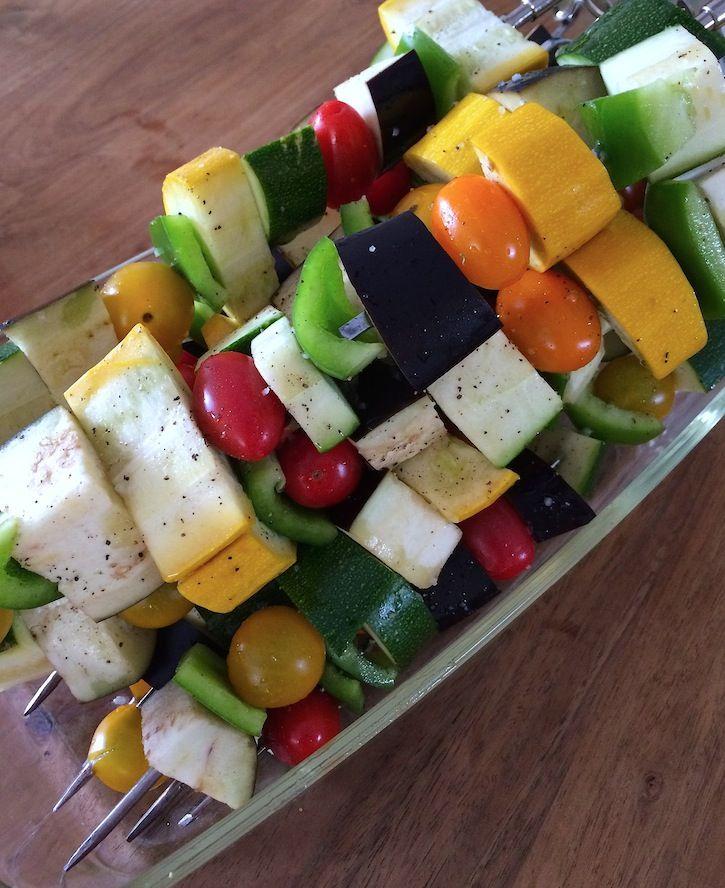 BBQ veggies | Groentespiezen voor de BBQ | www.francescakookt.nl