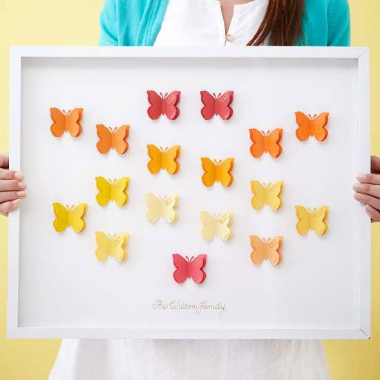 For a DIY gift that Mom will love, try this colorful family tree. Instructions: http://www.bhg.com/holidays/mothers-day/gifts/mothers-day-gift-ideas/?socsrc=bhgpin041713butterflytree=3