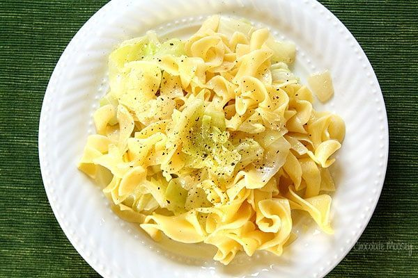 Haluski (Cabbage and Noodles) - a buttery Polish dish with egg noodles and fried cabbage often served during Lent. Very popular in Pittsburgh!