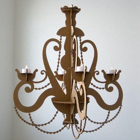 Té luz lámpara  araña de cartón vela lámpara colgante