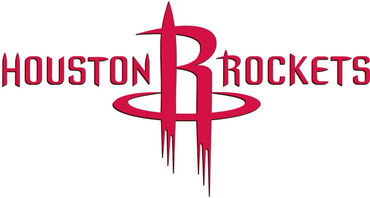 Houston Rockets Basketball Primary Logo (2004) - Red H and R shaped like a rocket ship taking off in between Houston Rockets script