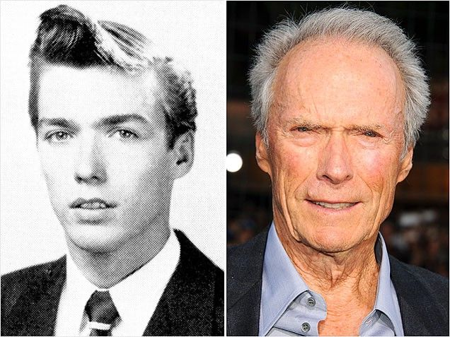 Clint EastwoodThere's something about Mary (oops, we mean Clint Eastwood!) in this handsome photo, taken during Eastwood's senior year of high school in California. The consummate cowboy (and recent chair whisperer), might have OD'd on the hair gel with this over-worked 'do-nami of a front wave.
