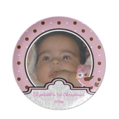 #Polkadot pink brown  baby girl first Christmas photo keepsake #plate $28.10 #FirstChristmasPhotos Keepsake, First Christmas Photos, Advertising, Pink, Baby Girls, Dots Baby, Keepsake Plates, Brown Baby, Brown Dots