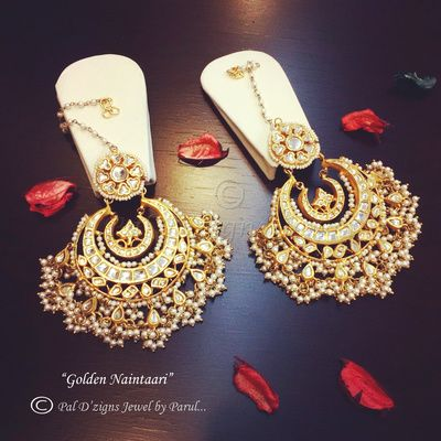 artificial chaand baalis, kundan, royal, beads, pearls, regal, mughal, sufi night,