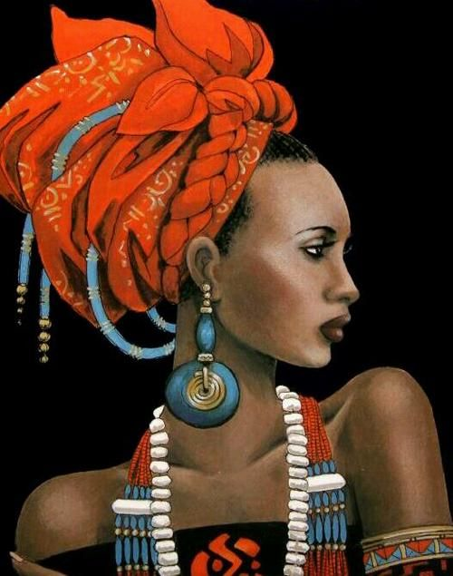Amazing - so colorful & beautiful (looks a lot like super model Iman)