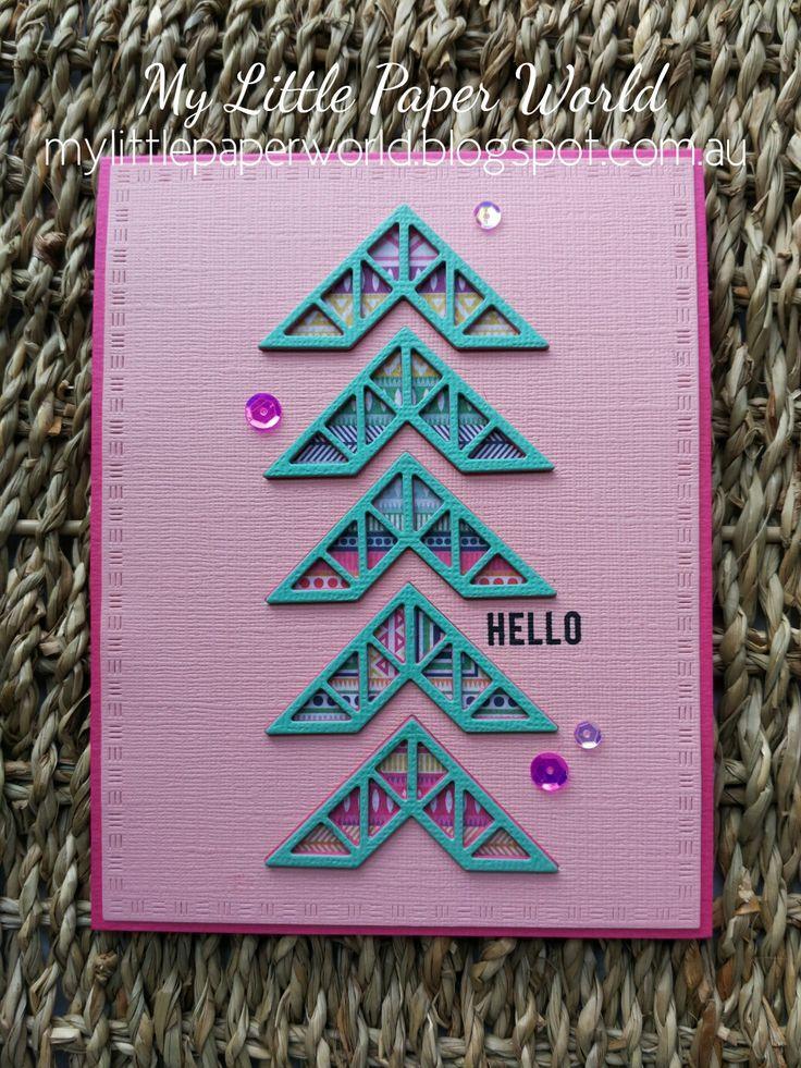 My Little Paper World - Corner Die Cuts for Sale. Geometric Card - LOVE IT!