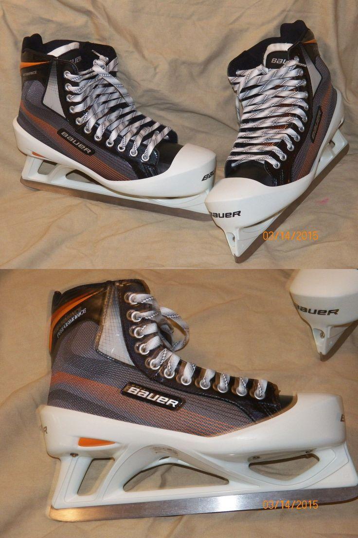 Ice Hockey-Adult 20858: New Bauer Performance Senior Ice Hockey Goalie Skates -> BUY IT NOW ONLY: $141.99 on eBay!