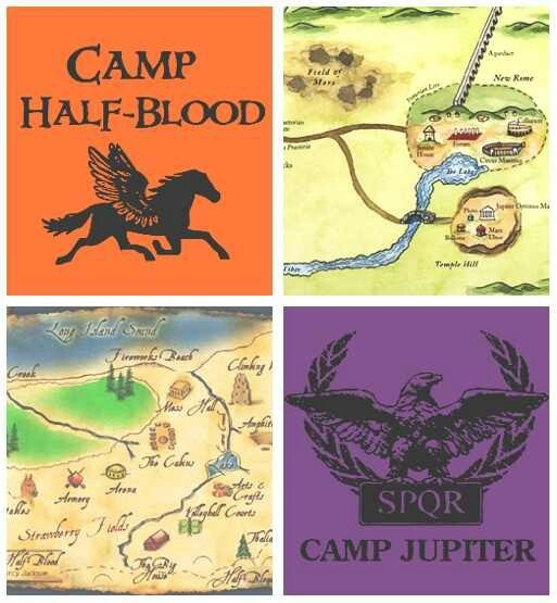Camp HalfBlood  Camp Jupiter Map  Percy Jackson And