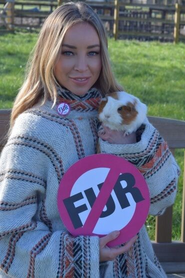 PHOTOS: Lauren Pope Uses Discarded Fur Coats to Keep Adorable Rescue Animals Warm - Lauren Pope Fur Donation Guinea Pig