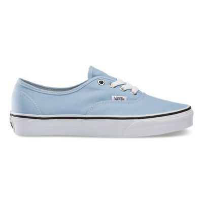 The Authentic, Vans original and now iconic style, is a simple low top, lace-up with durable canvas upper, metal eyelets, Vans flag label and Vans original Waffle Outsole.
