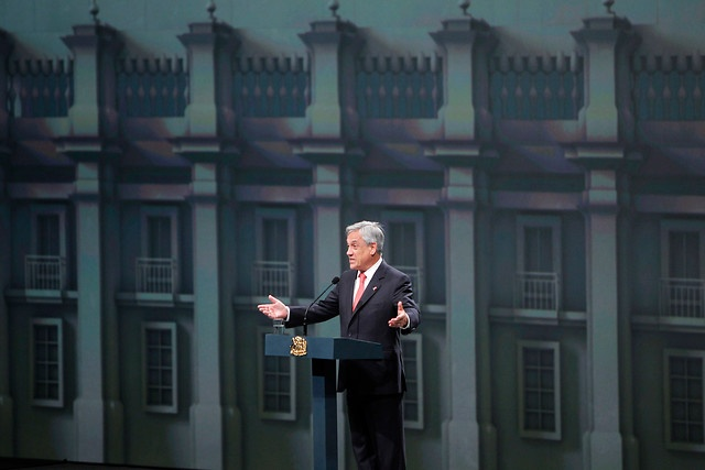 27 de ENERO de 2013/SANTIAGO, CHILE   Ceremonia de Inauguración, Cumbre CELAC. En la foto: El Presidente de Chile, Sebastián Piñera.   FOTO: NADIA PÉREZ/AGENCIAUNO/PRENSA CUMBRE