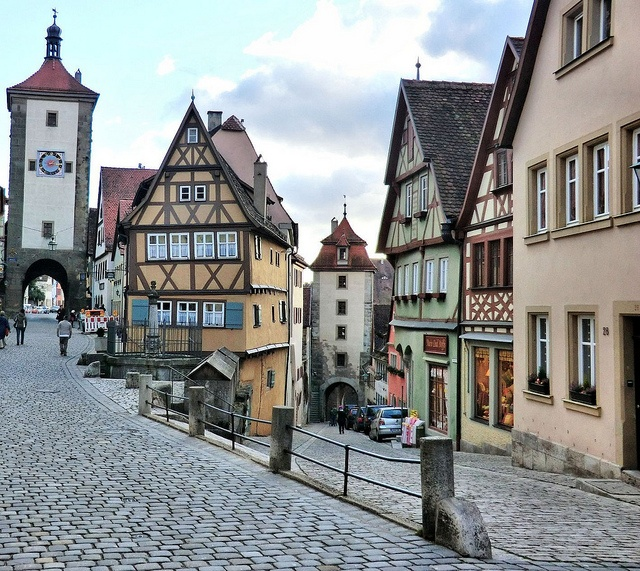 Rothenburg - Germany I've been right there and had lunch in the first building on the right!
