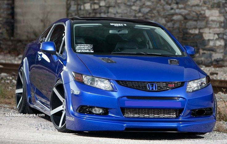 Modified Honda Civic Si (8th generation)  http://www.carkipedia.com/blog/2012/02/13/modified-honda-civic-si-with-work-meister-s1-rims/  http://www.101modifiedcars.com/2010/05/30/modified-honda-civic-sixth-generation-si-fg2-2-door-coupe/