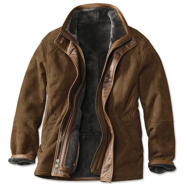 Bedford Leather Jacket Spanish Merino Shearling Trimmed
