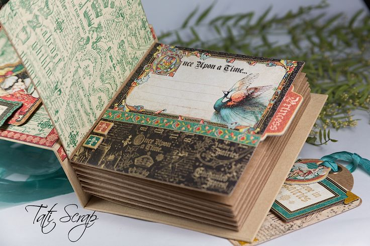 Tati, Enchanted Forest, Square Tag & Pocket Album, Product by Graphic 45, Photo 16