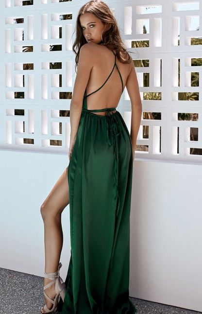 PRE ORDER Pandora Maxi Dress Emerald Green