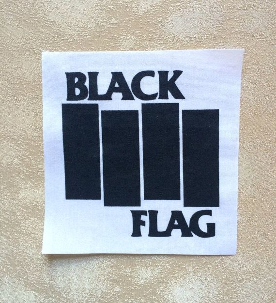 Black Flag Band Black Fabric Sew On Patch on Etsy, $2.00