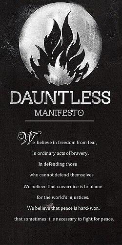 Divergent by Veronica Roth | Divergent series | Dauntless Manifesto @Erin B B B B Elmore
