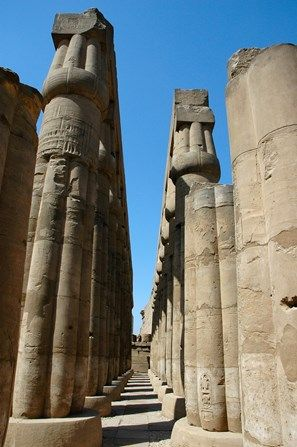The Hypostyle Hall columns by the court of Amenhotep III
