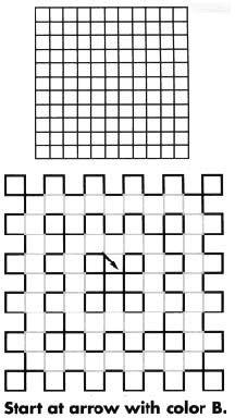 alternate colors diagram for Hot Stuff  grid crochet