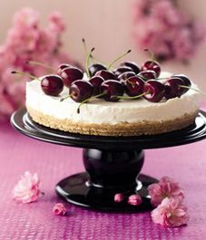 Nigella Lawson's unbaked cherry cheesecake is easy to make and delicious to taste.