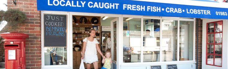Captain Stan's Bembridge Fish Store, High Street, Bembridge.  Wonderful fresh fish shop with locally caught fish.
