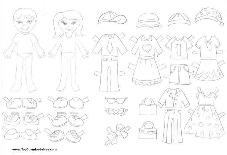 free printable paper doll cutout templates for kids and adults cool school activities. Black Bedroom Furniture Sets. Home Design Ideas