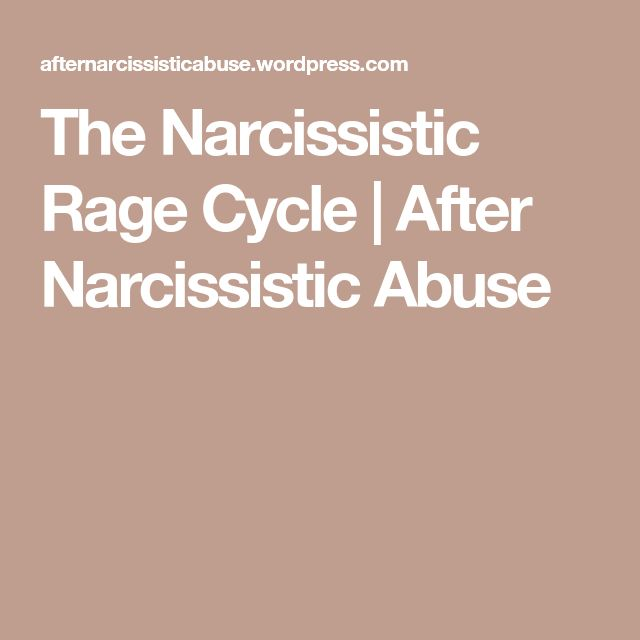 The Narcissistic Rage Cycle | After Narcissistic Abuse