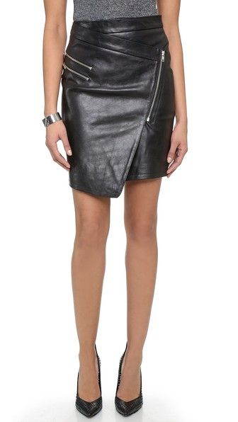 E: Shopbop Just Female Came Leather Skirt in Pink