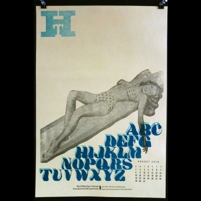 Girls of The Globe, August by Bill Moran (Posters) - Hamilton Wood Type & Printing Museum