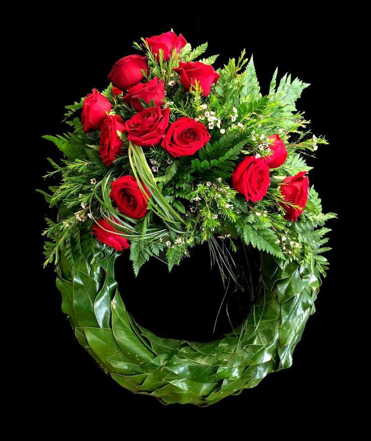 Oriol Bargalló: Arte floral - Corona funeraria con texturizado