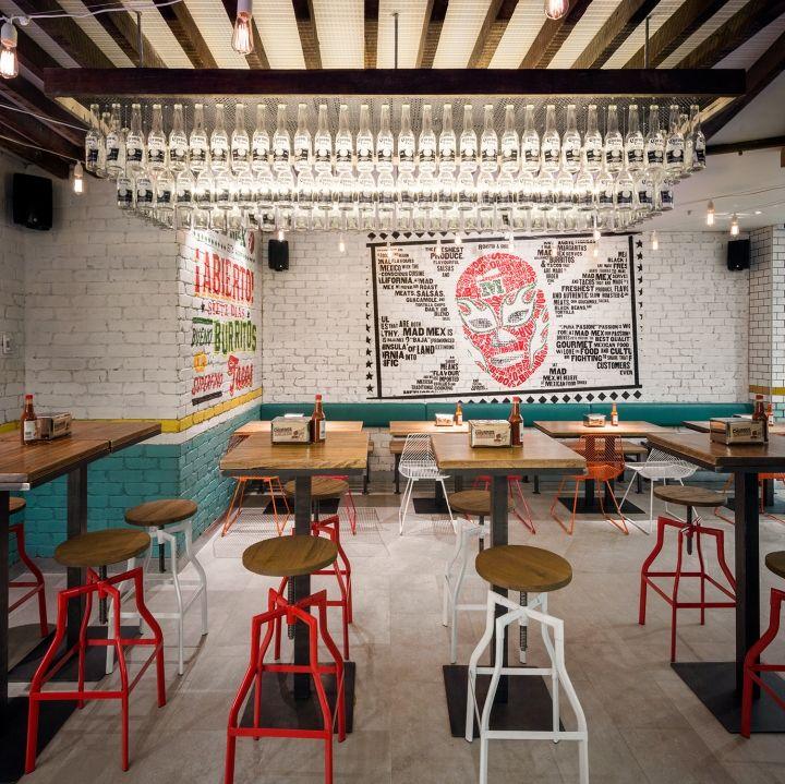 Интерьер мексиканского гриль-ресторана в центре Сиднея