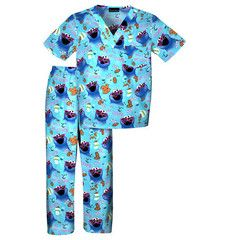 Kids Tooniform Scrubs Cookie Monster