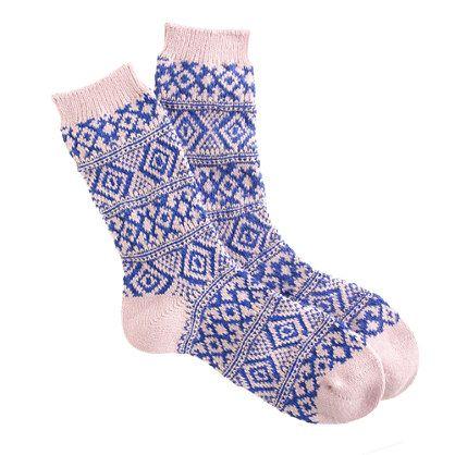 stocking stuffer for her: fair Isle trouser socks from j.crew.