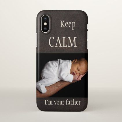 Proud Father Faux Leather Photo Phone Case - fathers day best dad diy gift idea cyo personalize father family