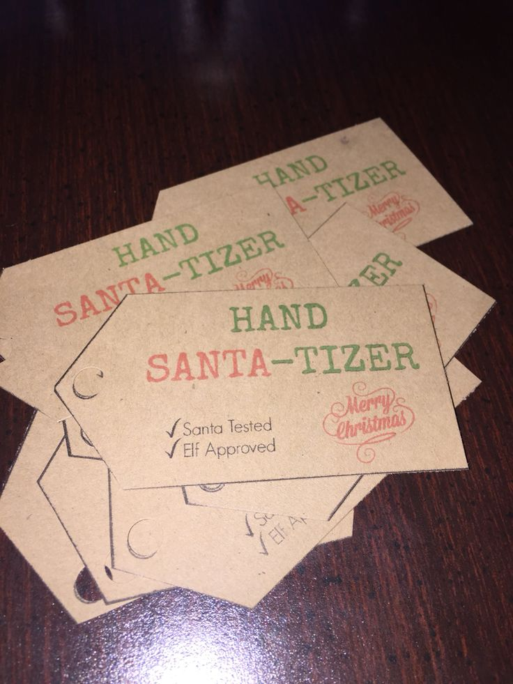 "Cute ""HAND SANTA-TIZER"" tags for Scentsy Hand Sanitizer https://whitneyharshman.scentsy.us"
