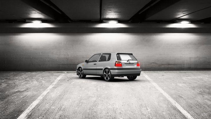 Qué tal les parece mi tuning #Volkswagen #Golf3 1991 en 3DTuning #3dtuning #tuning?