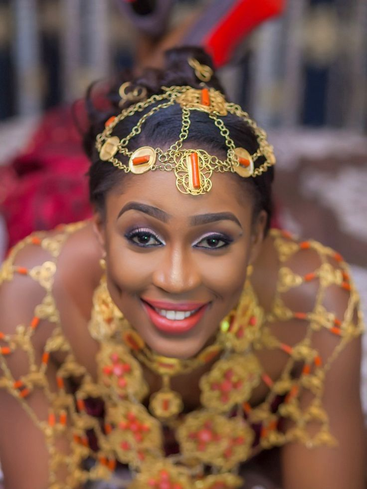 Gorgeous Delta state bride. Nigerian Wedding: Delta Bride + Rivers Groom by Bk Concept - KnotsVilla