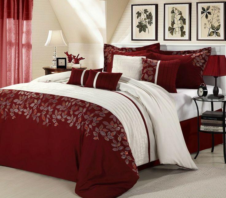 montana burgundy white luxury bed comforter setmontana burgundy white luxury bedding 34 bedsking