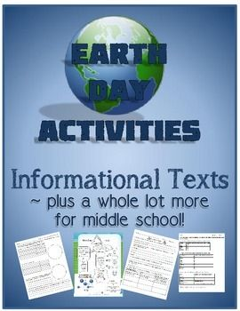 Earth Day Activities!  Informational Texts Plus More for M