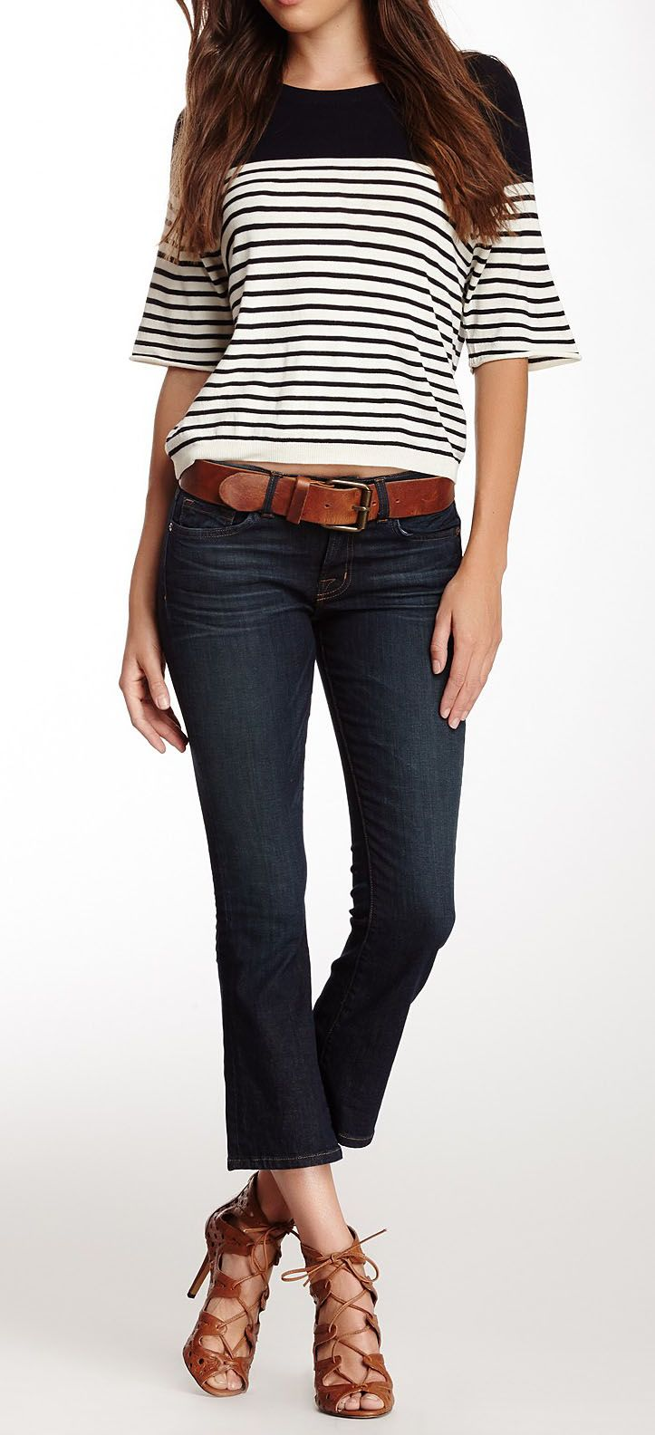 Gigi Mid Cropped Flare Jean..I just love they're called GiGi!