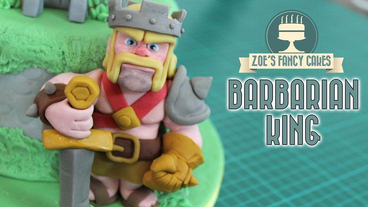 cake barbarian barbarian king clash royal cake cake decorating toppers ...