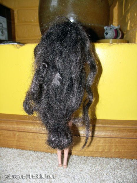 how to fix matted doll hair