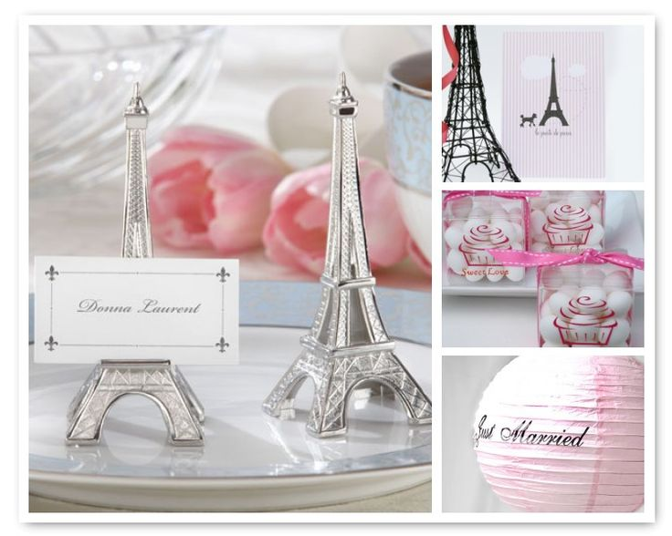 Items Similar To Evening In Paris Eiffel Tower Silver Finish Place Card Holder Set Of 4 Photo Holders Placecards Table Setting Destination Travel Wedding On