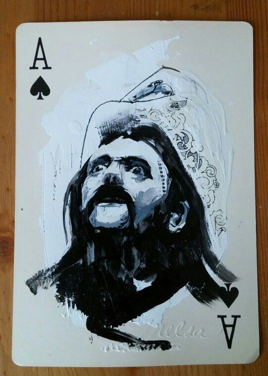 www.melsamontagne.com / #Lemmyhommage,  acrylique on play card